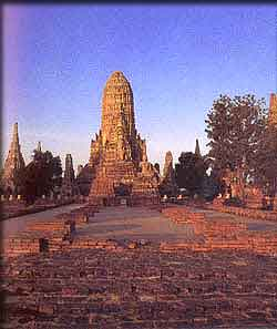 Temple of Ayuttaya. Possible get excursion from the hotel and resort of krabi